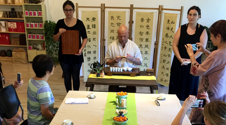 Rob Lisak working with Chinese Teas