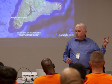 Terry Hunt Lecture in local prison