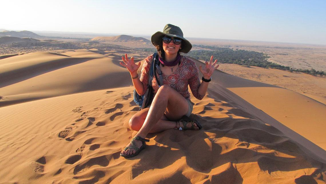 Female student on study abroad trip