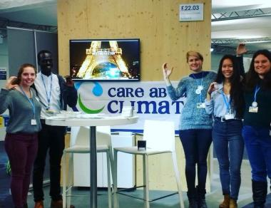 Students at climate conference